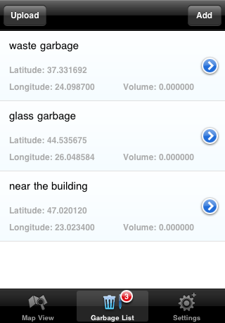 Garbage list