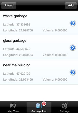 Garbage list