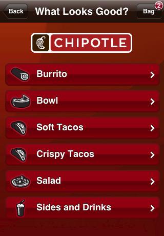 Chipotle mobile app