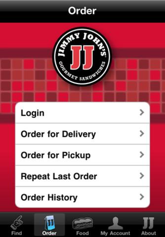 Jimmy John's mobile app