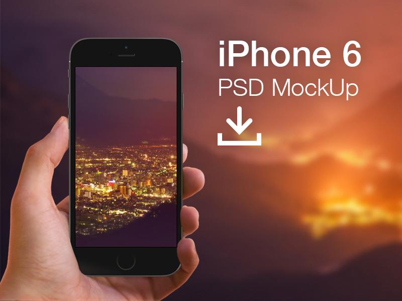 iphone 6 mockup hand