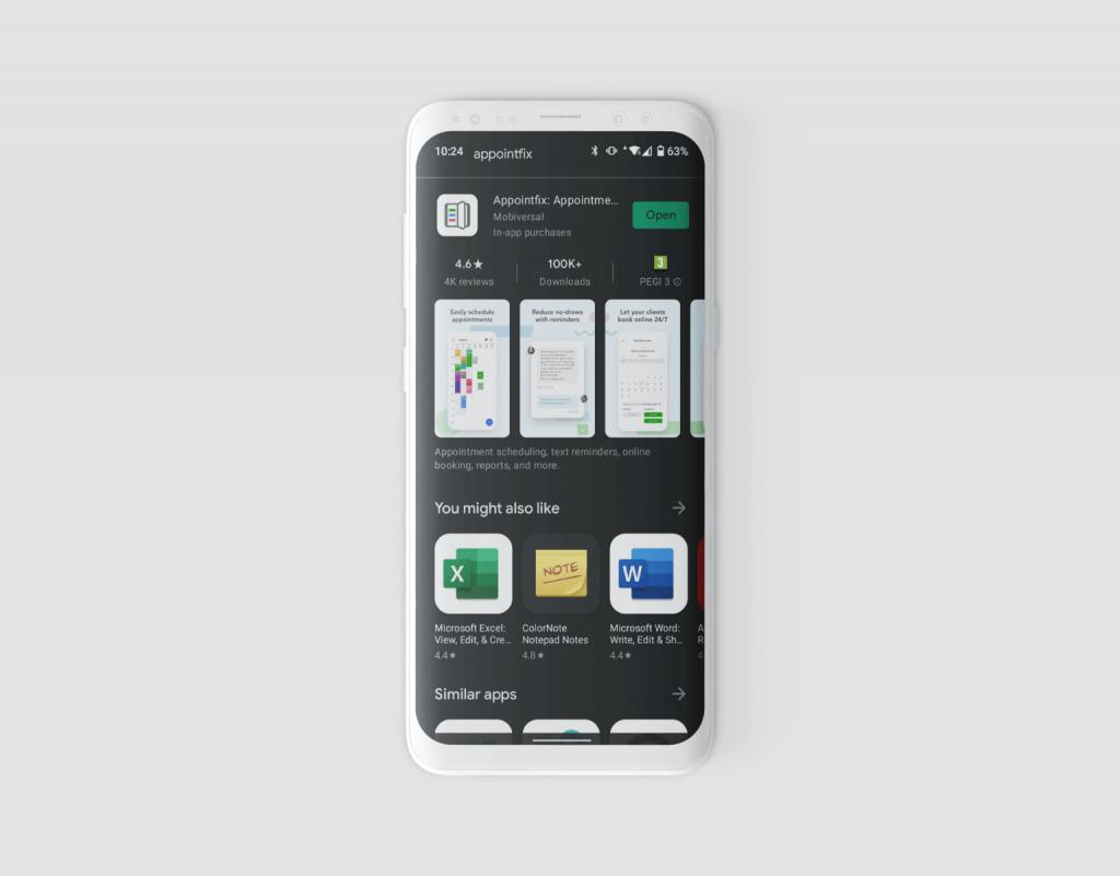 Appointfix App Screenshot