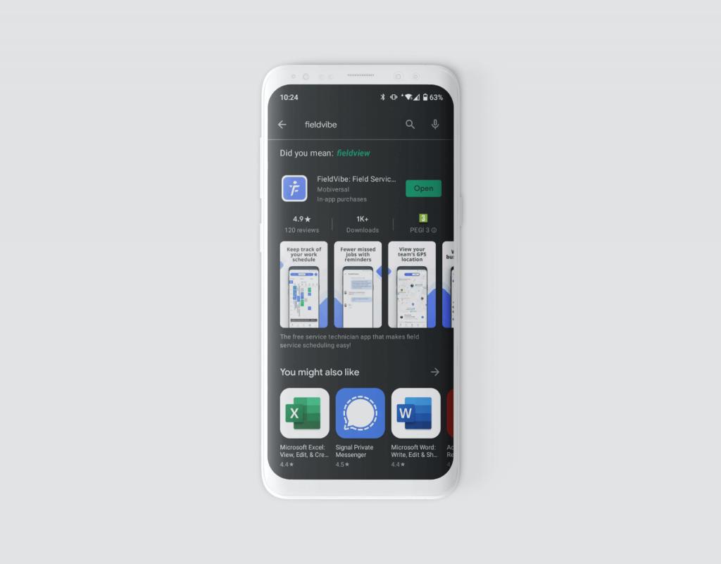 FieldVibe App Screenshot