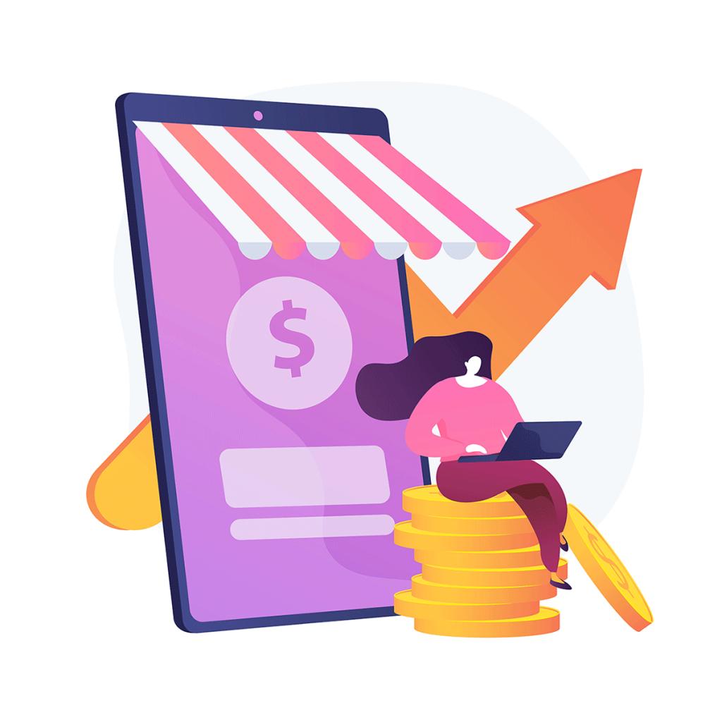 Sales growth illustration